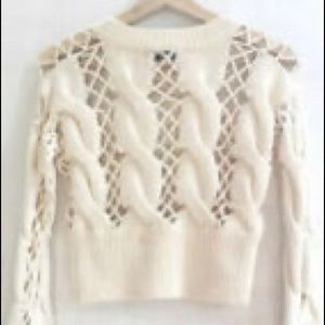 Lavender Nasty Gal Cutout Crop Sweater